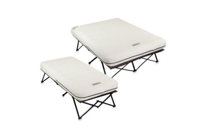 coleman frame and queen and twin side table