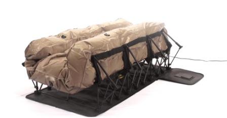 ez inflatable mattress unfolding