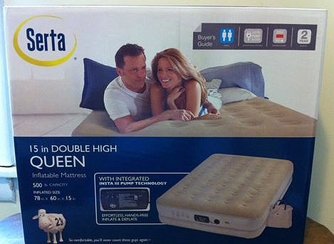 review of serta raised air mattress with insta iii pump - 3 beds