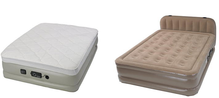 pillowtop and headboard versions of the air mattress