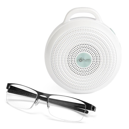 rohm portable white noise compared size glasses