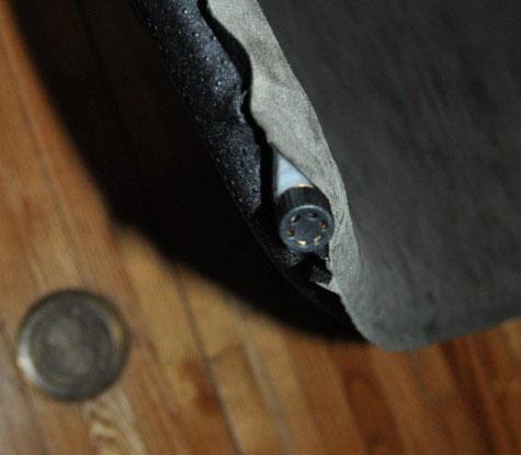 closeup of the pump
