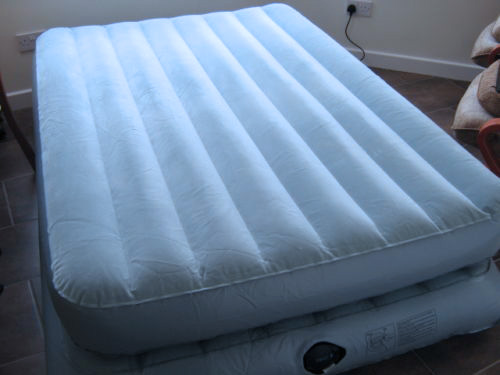 fully inflated mattress