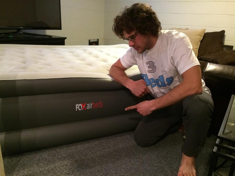 testing the twin inflatable bed