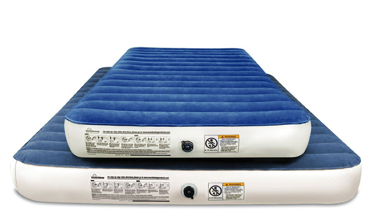 Sound Asleep camping air mattress queen and twin size