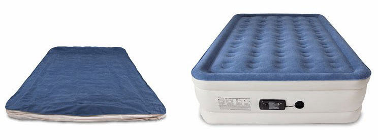 best rated queen air mattress deflated and inflated