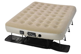 serta airbed on a steel structure