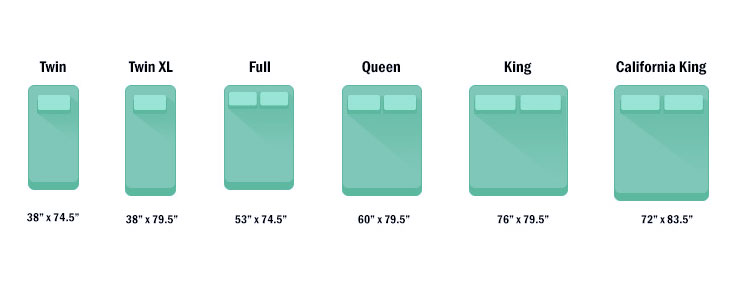 air mattress sizes chart