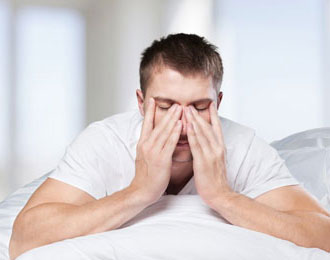 man unable to sleep